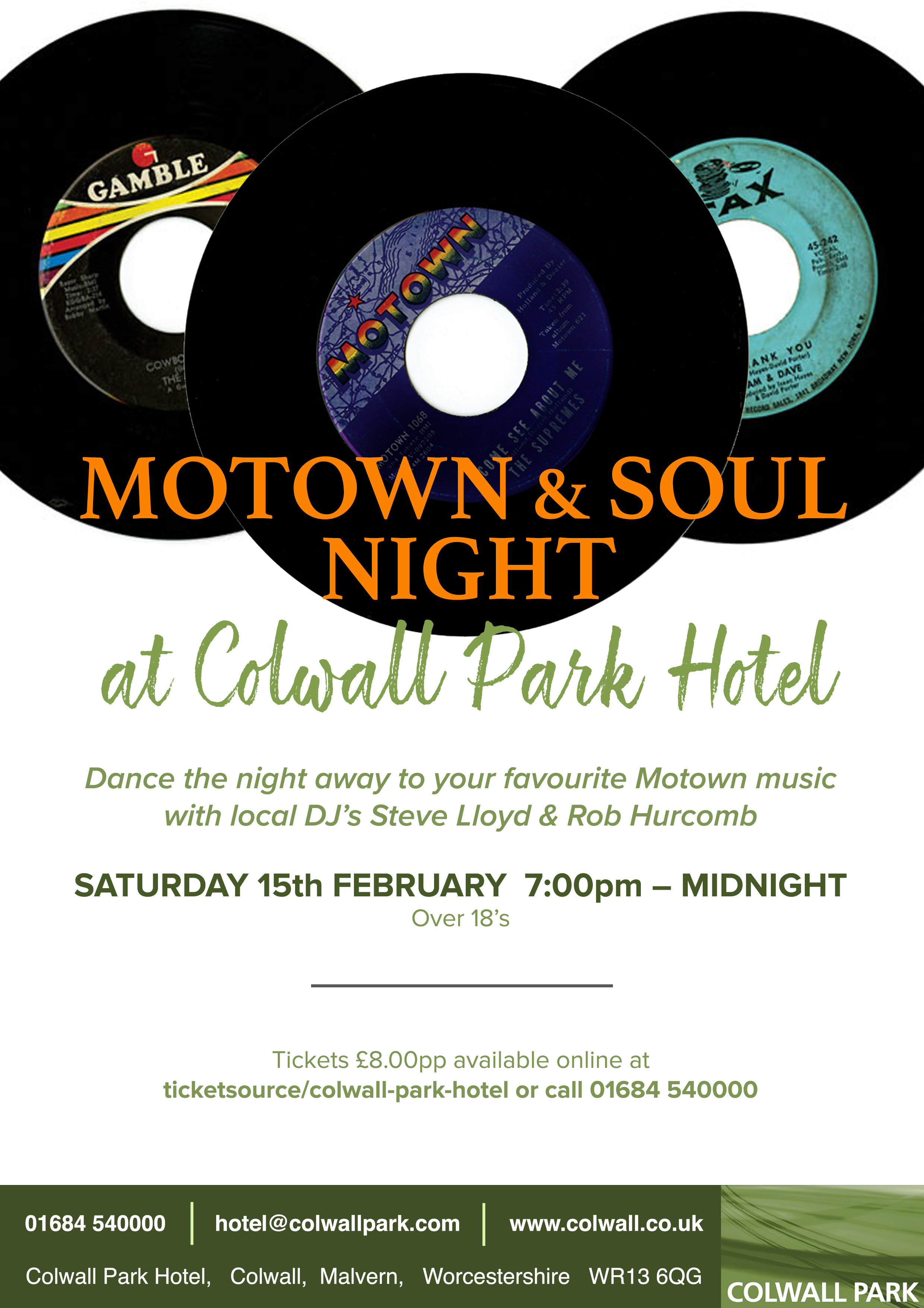 Club Soul And Motown Great Malvern flyer