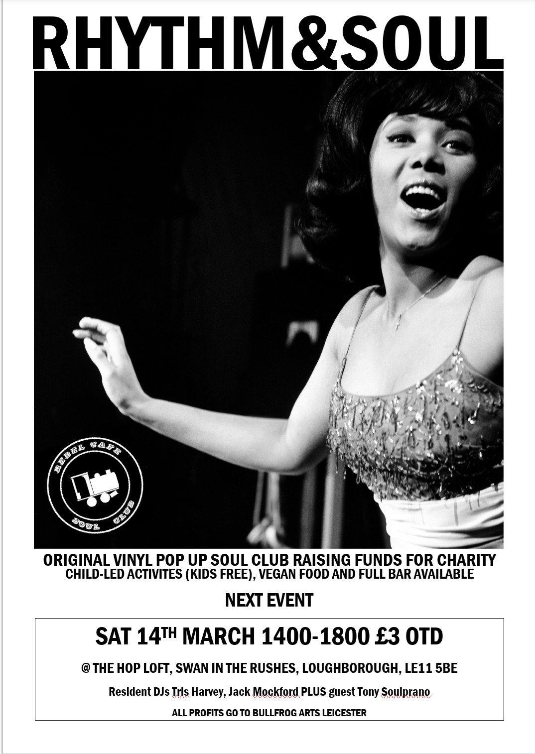 Rebel Cafe Soul Club Presents Rhythm And Soul flyer
