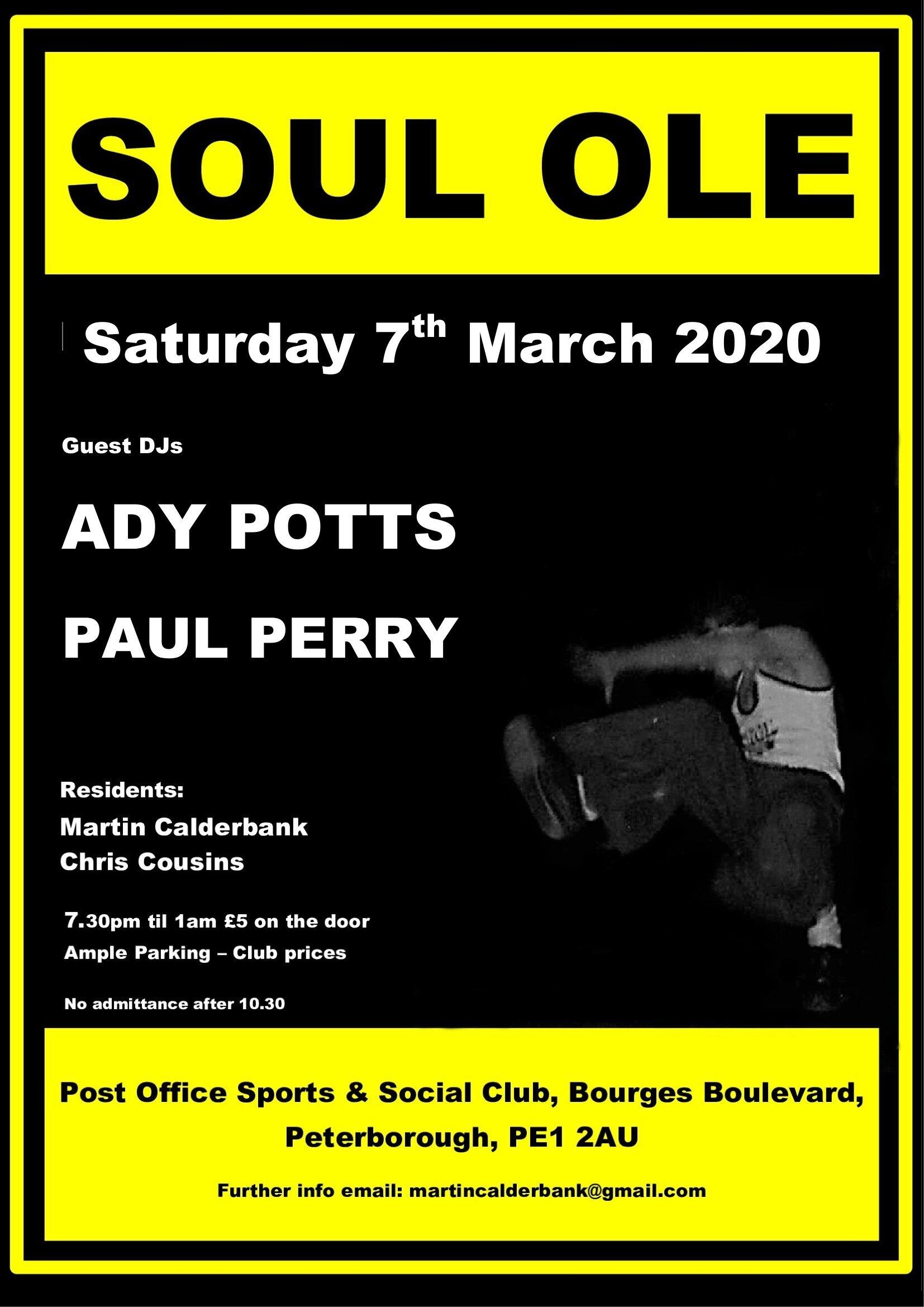 Soul Ole Peterborough flyer