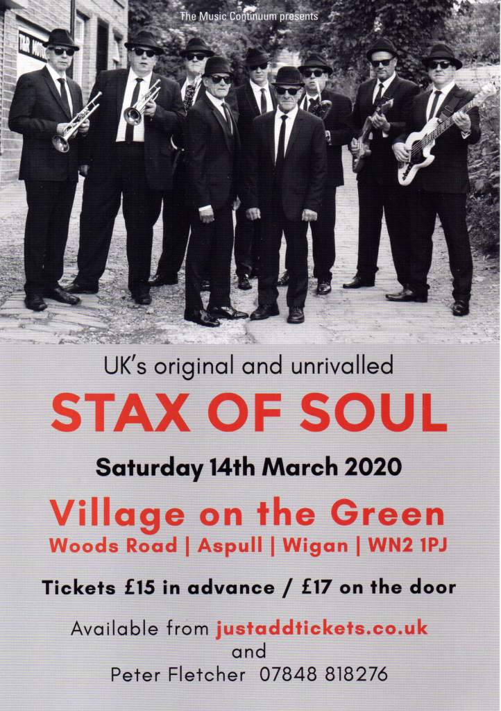 Stax Of Soul Live flyer
