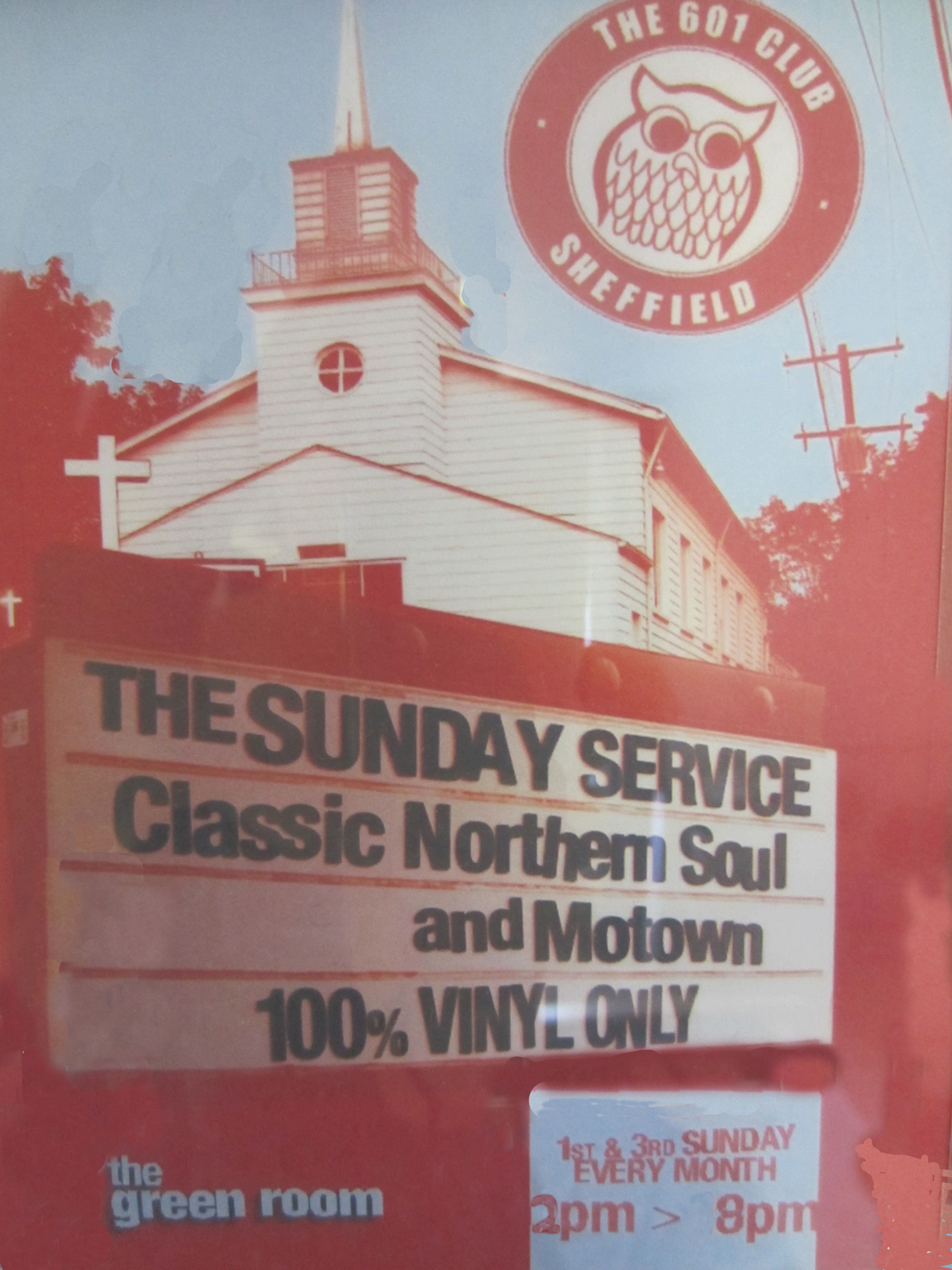 601 Sunday Service At The Green Room Sheffield flyer