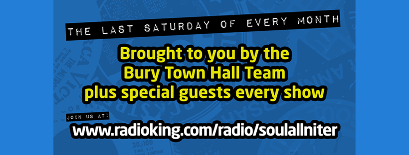 Bury Town Hall Virtual Allnighter flyer