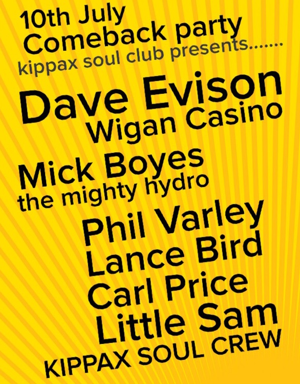 Kippax Soul Club Comeback Event Sold Out flyer
