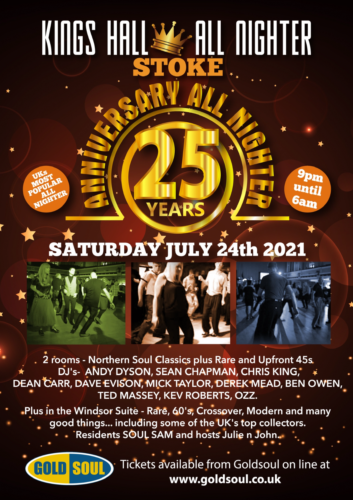 Kings Hall Stoke 25th Anniversary 19962021 flyer