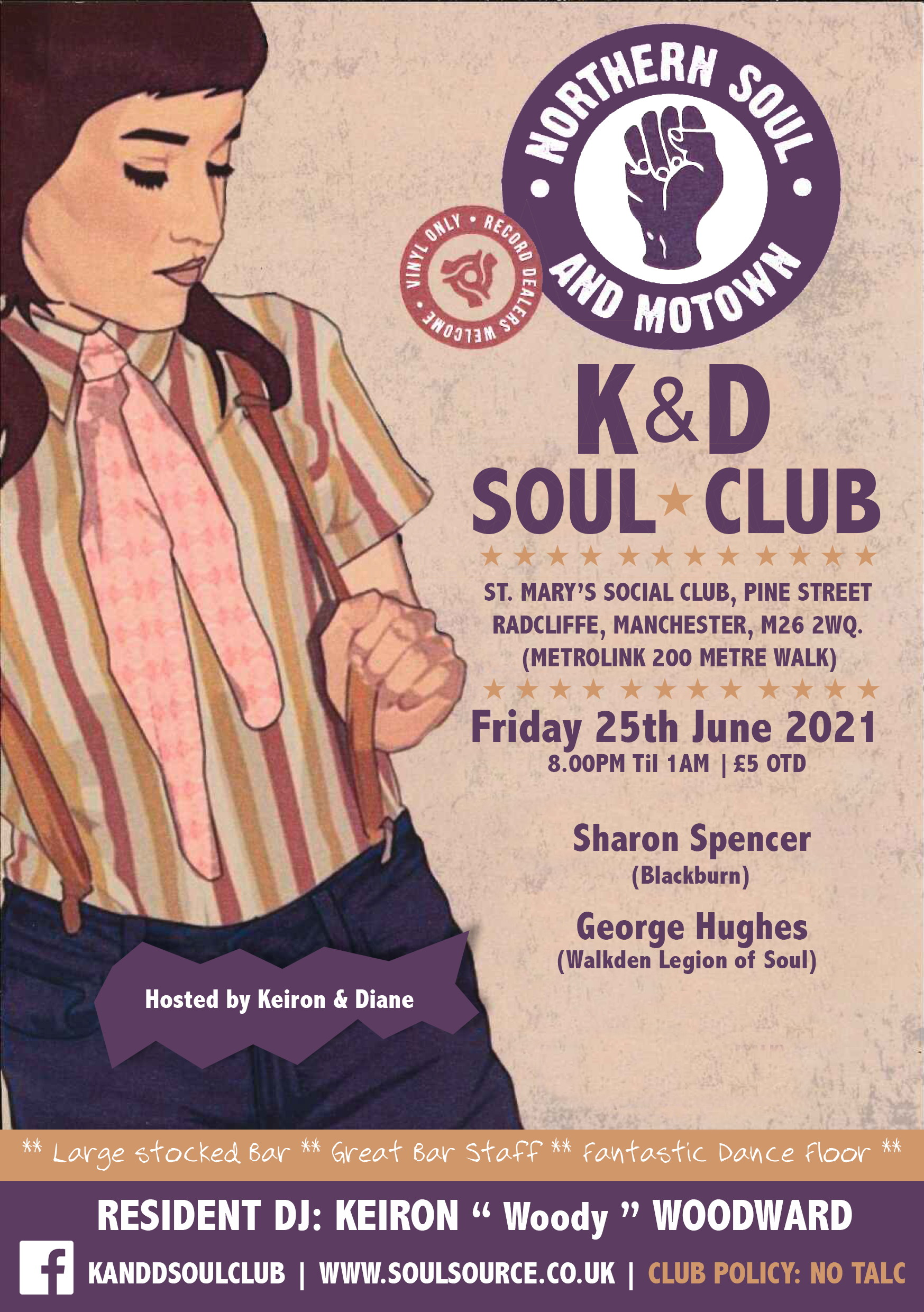 K  D Soul Club Cancelled Cancelled flyer