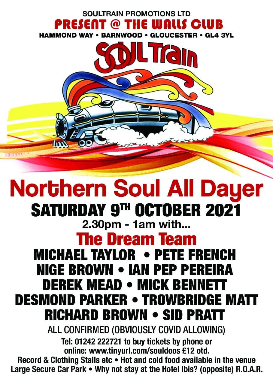 Gloucester Dream Team Northern Soul Alldayer flyer