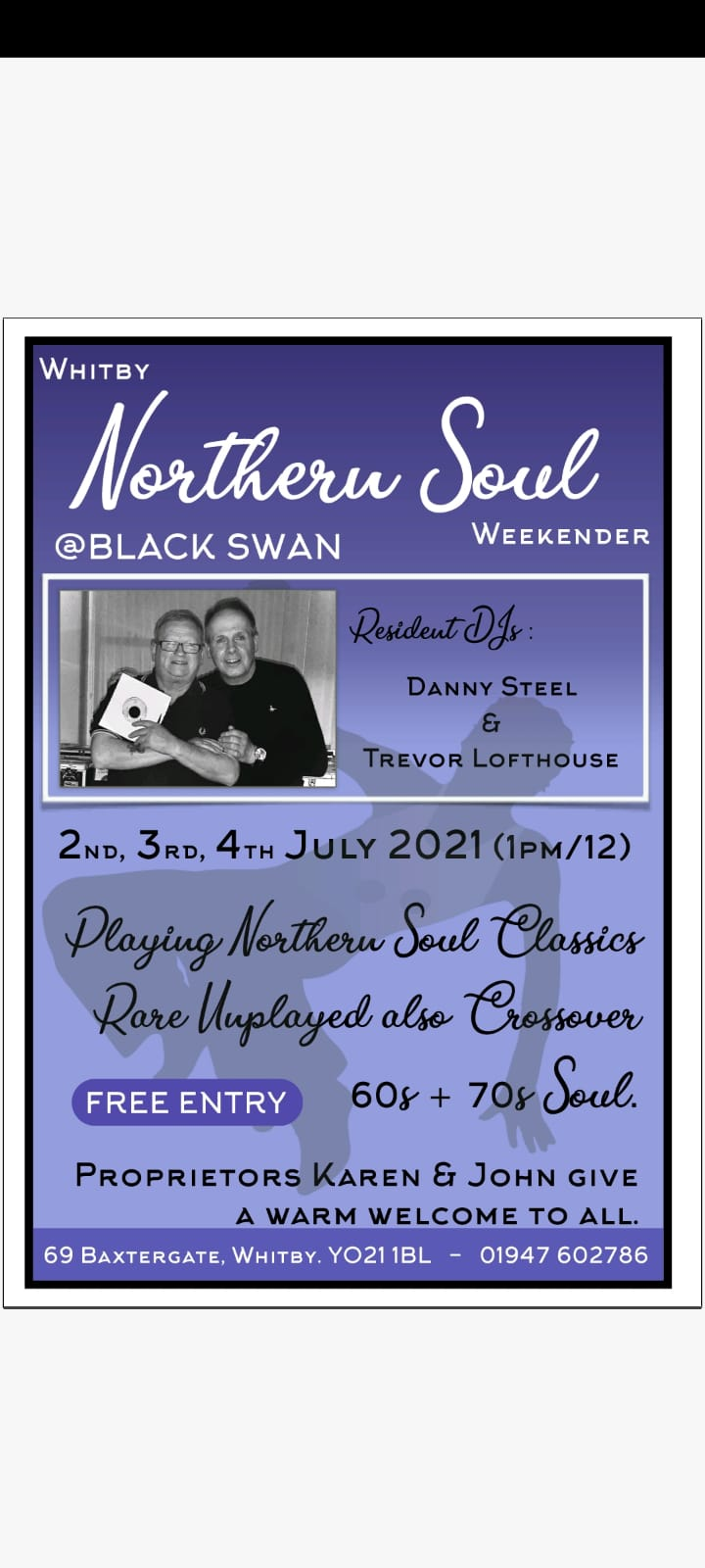 Whitby Northern Soul  At The Black Swan Cancelled flyer