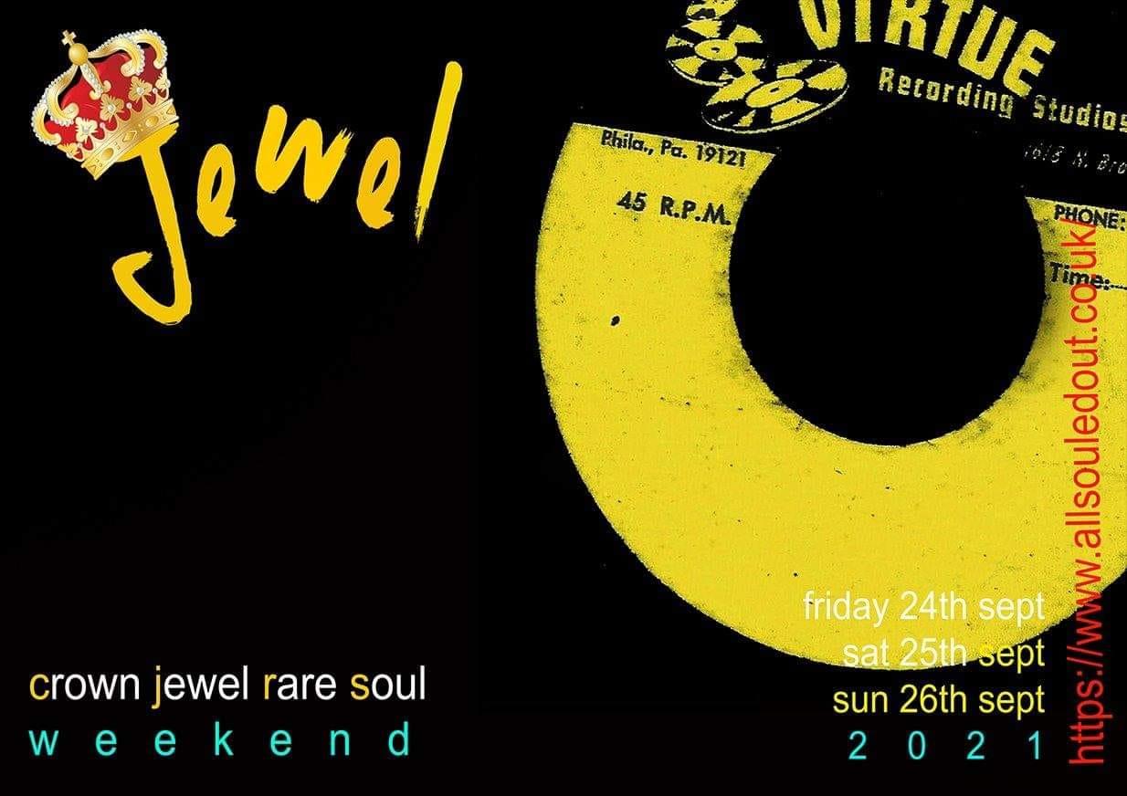 Crown Jewel Rare Soul September 24th26th 2021 flyer
