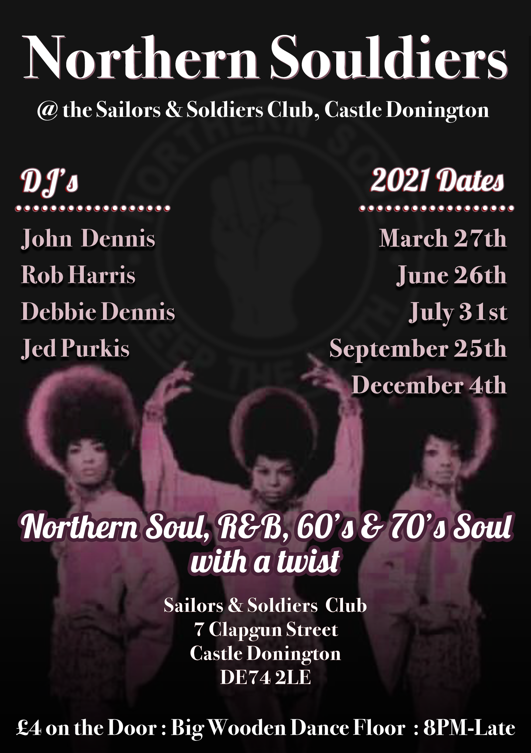 Sold Outnorthern Souldiers  Mick Cooper  Simon Hunt flyer