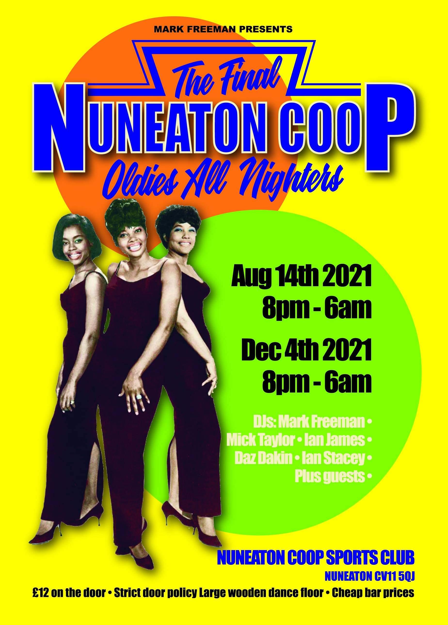 Nuneaton Coop Oldies Allniter flyer