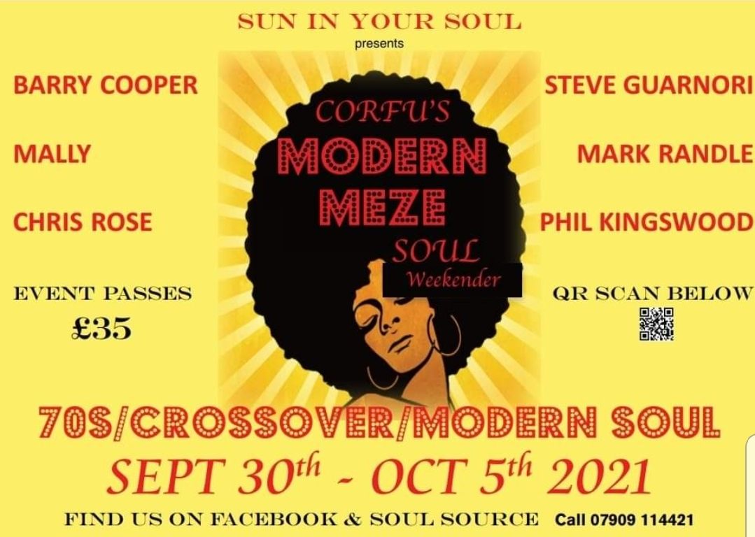 Corfus Modern Meze Weekender 2021 flyer