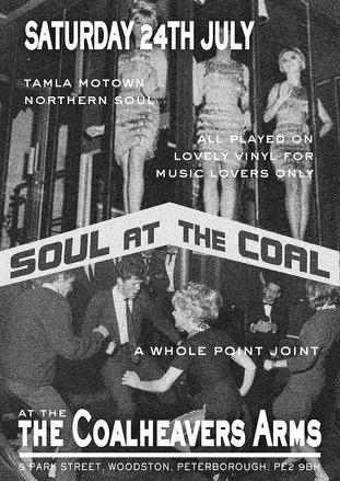 Soul At The Coal  Peterborough flyer