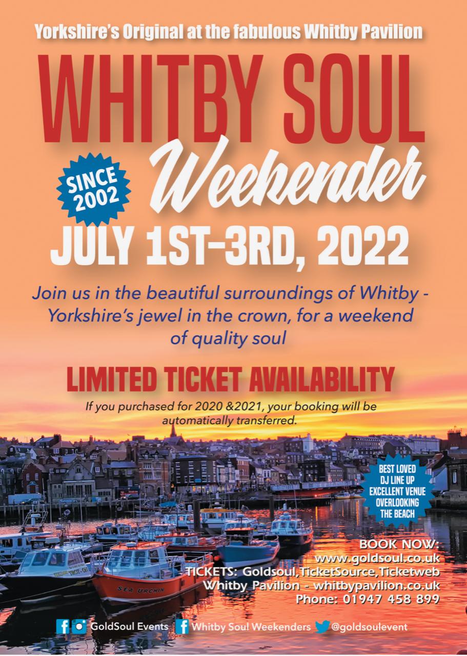 Whitby Pavilion Soul Weekender flyer