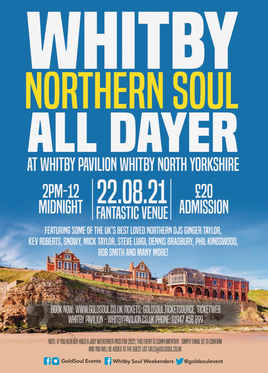 Whitby Soul Alldayer flyer