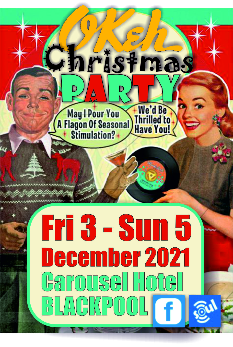 Okeh Xmas Party By The Seaside flyer