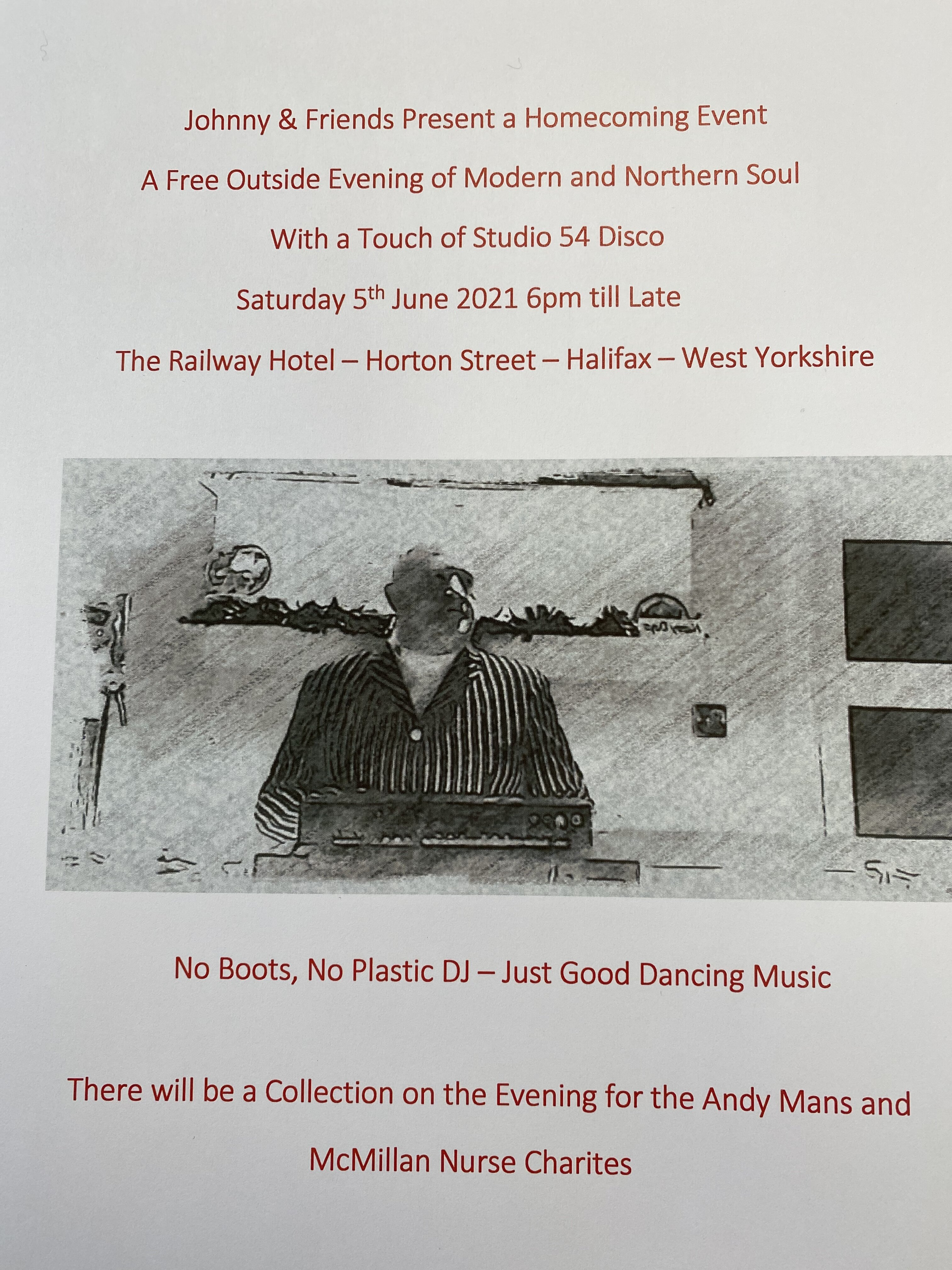 Modern And Northern Soul  The Railway Hotel Halifax flyer