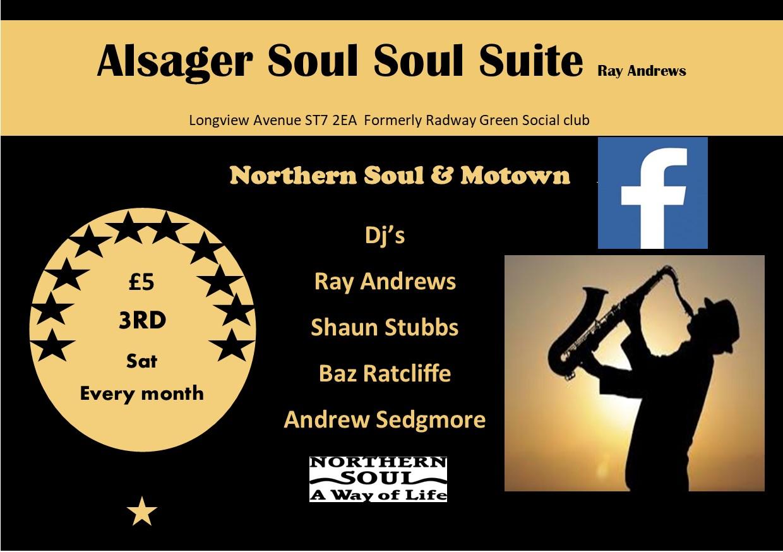Alsager Soul Suite Sot flyer
