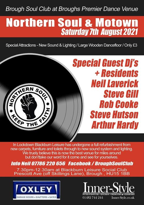 Brough Soul Club Is Back With A Fantastic Revamped Venue flyer