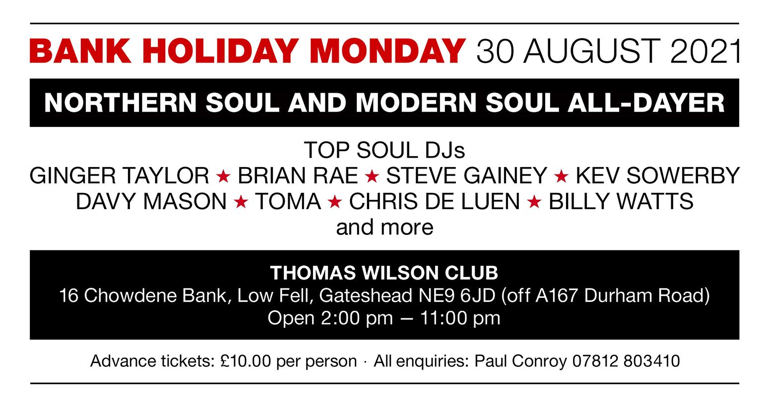 Northern  Modern Soul Mini All Dayer flyer