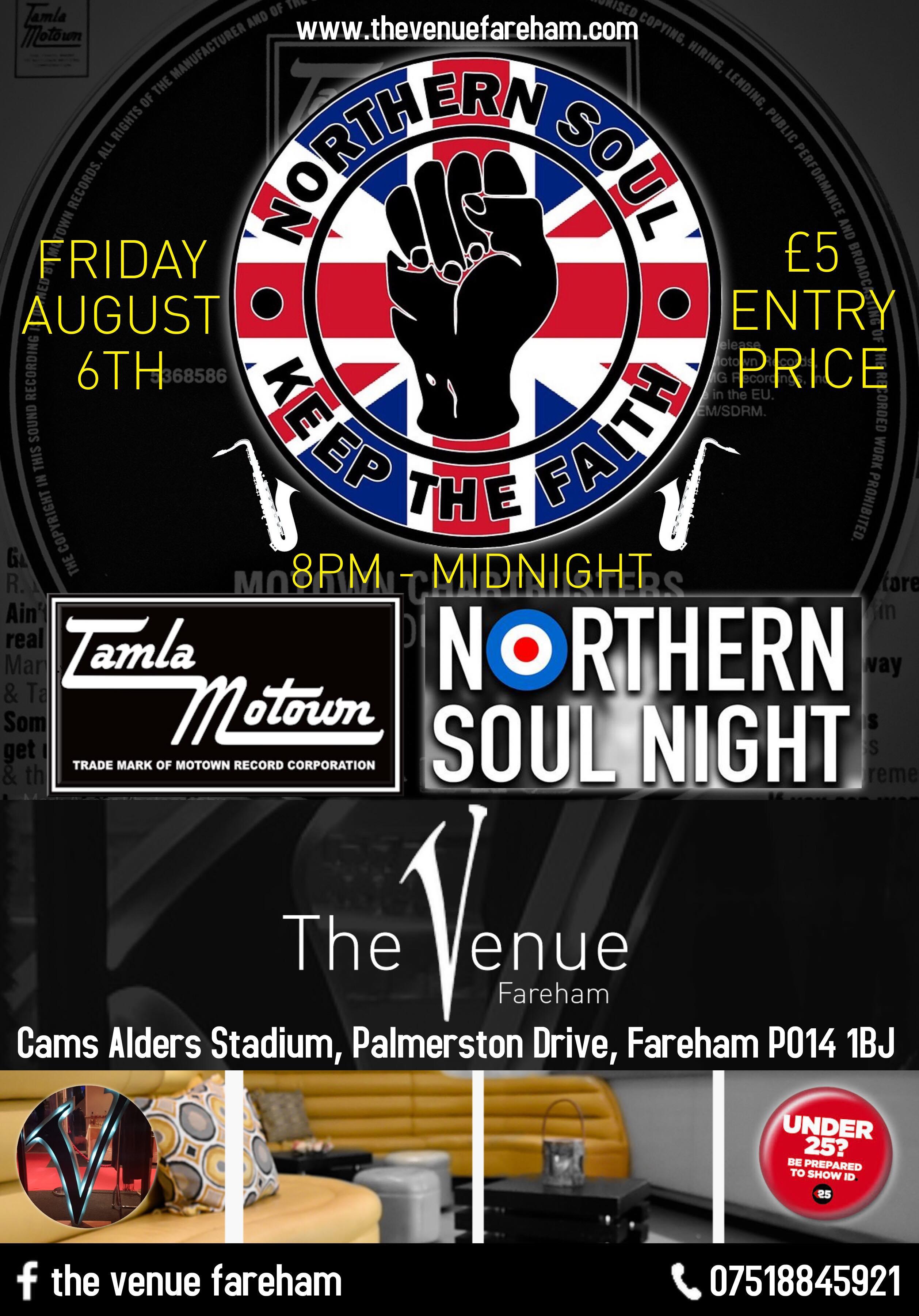 Northern Soul  Motown Night flyer