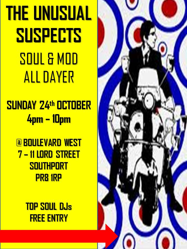 The Unusual Suspects All Dayer flyer