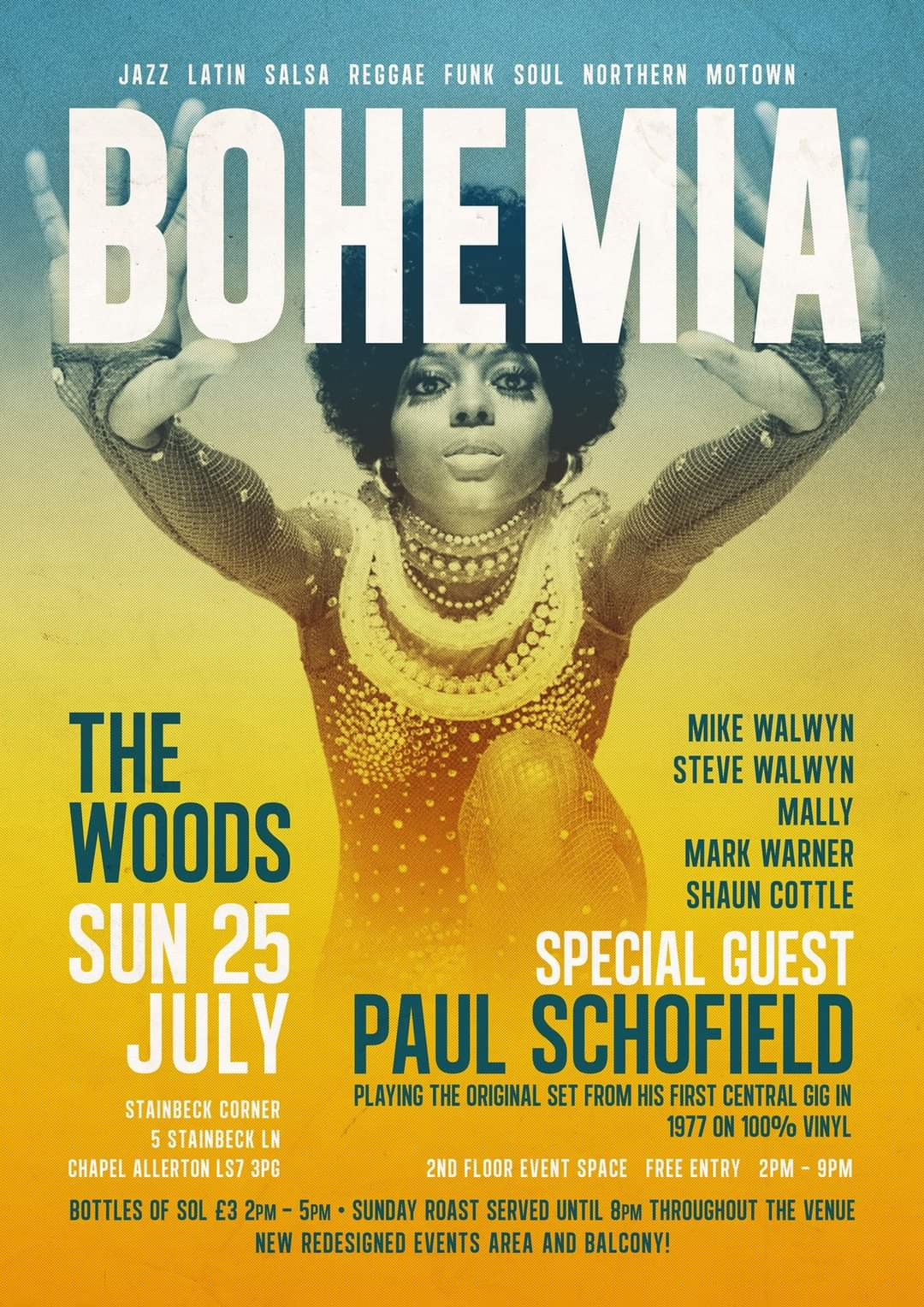 Bohemia At The Woods Leeds flyer