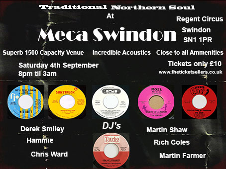 Cancelled Northern Soul At Meca Swindon flyer