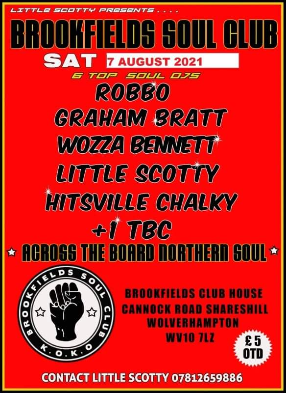 Brookfields Soul Club   Cancelled flyer