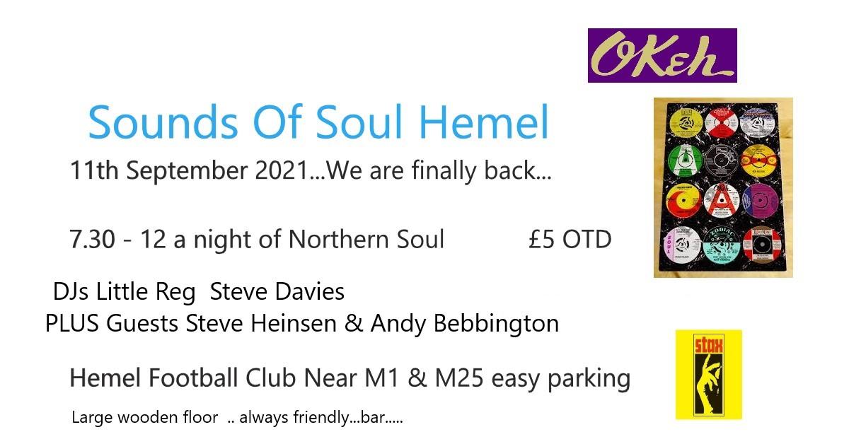 Hemel Sounds Of Soul  Sos flyer