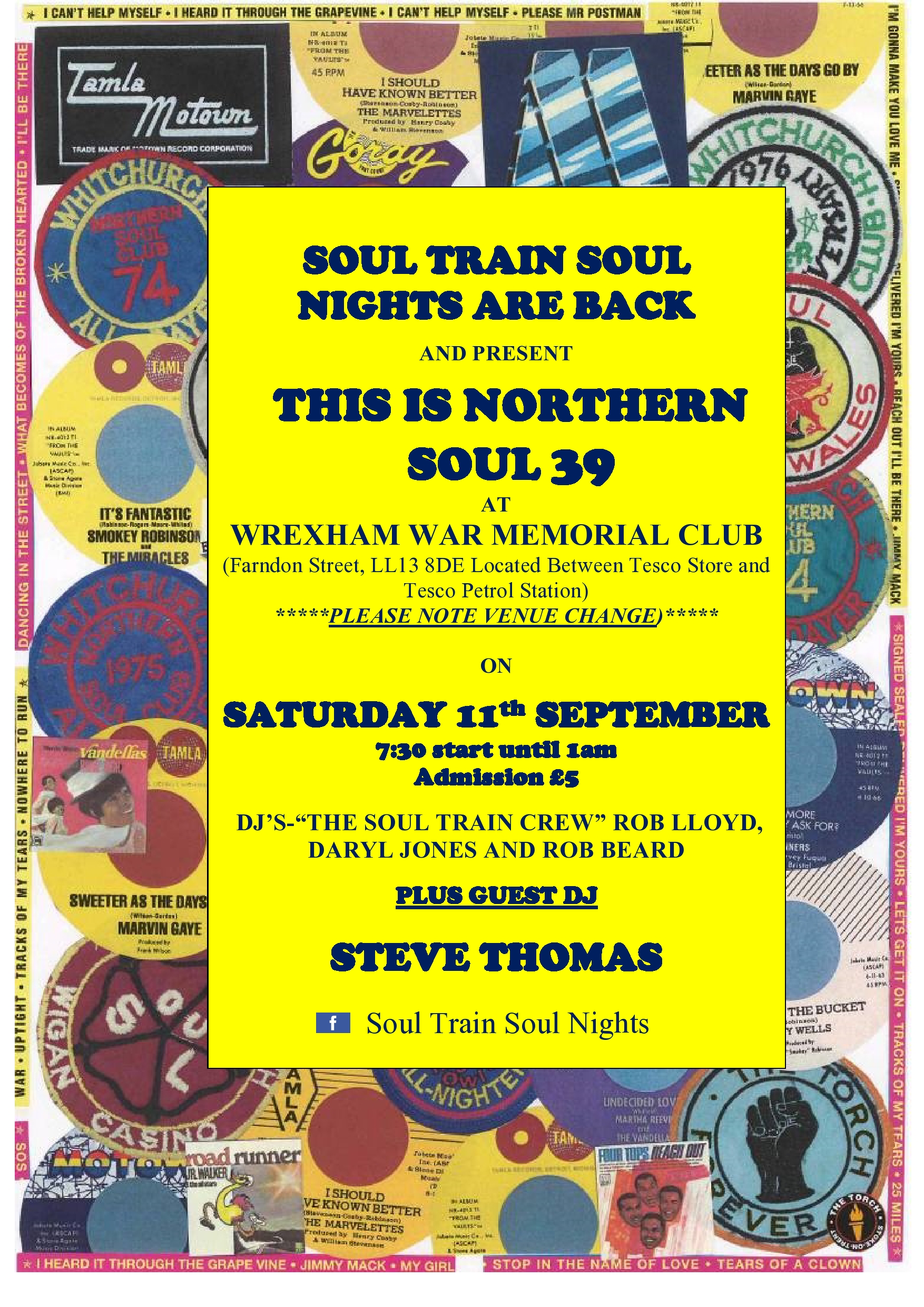 This Is Northern Soul 39  Wrexham War Memorial Club flyer