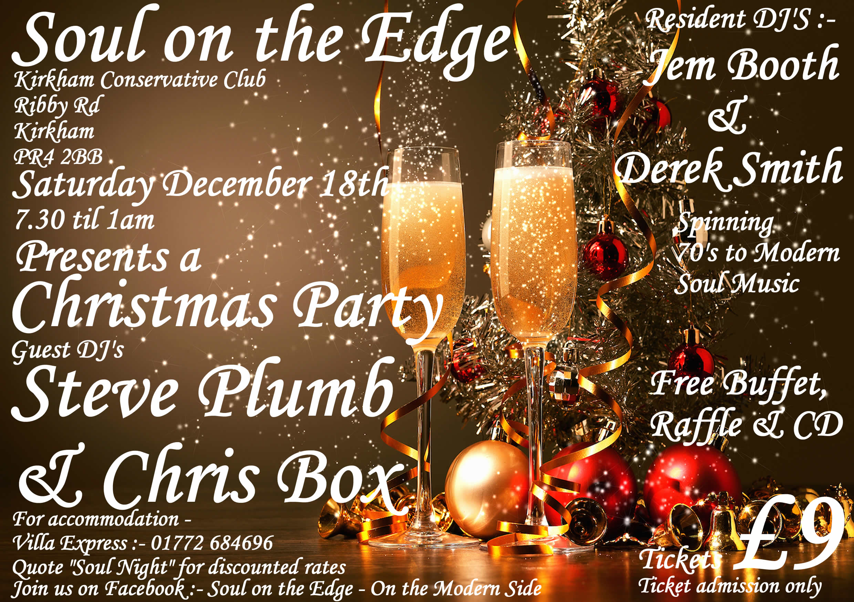 Soul On The Edge  Kirkham Pr4 2bb  Preston flyer