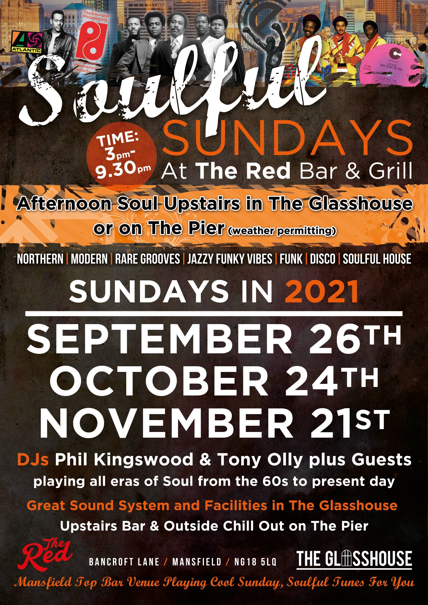 Soulful Sundays At The Red Bar  Grill flyer