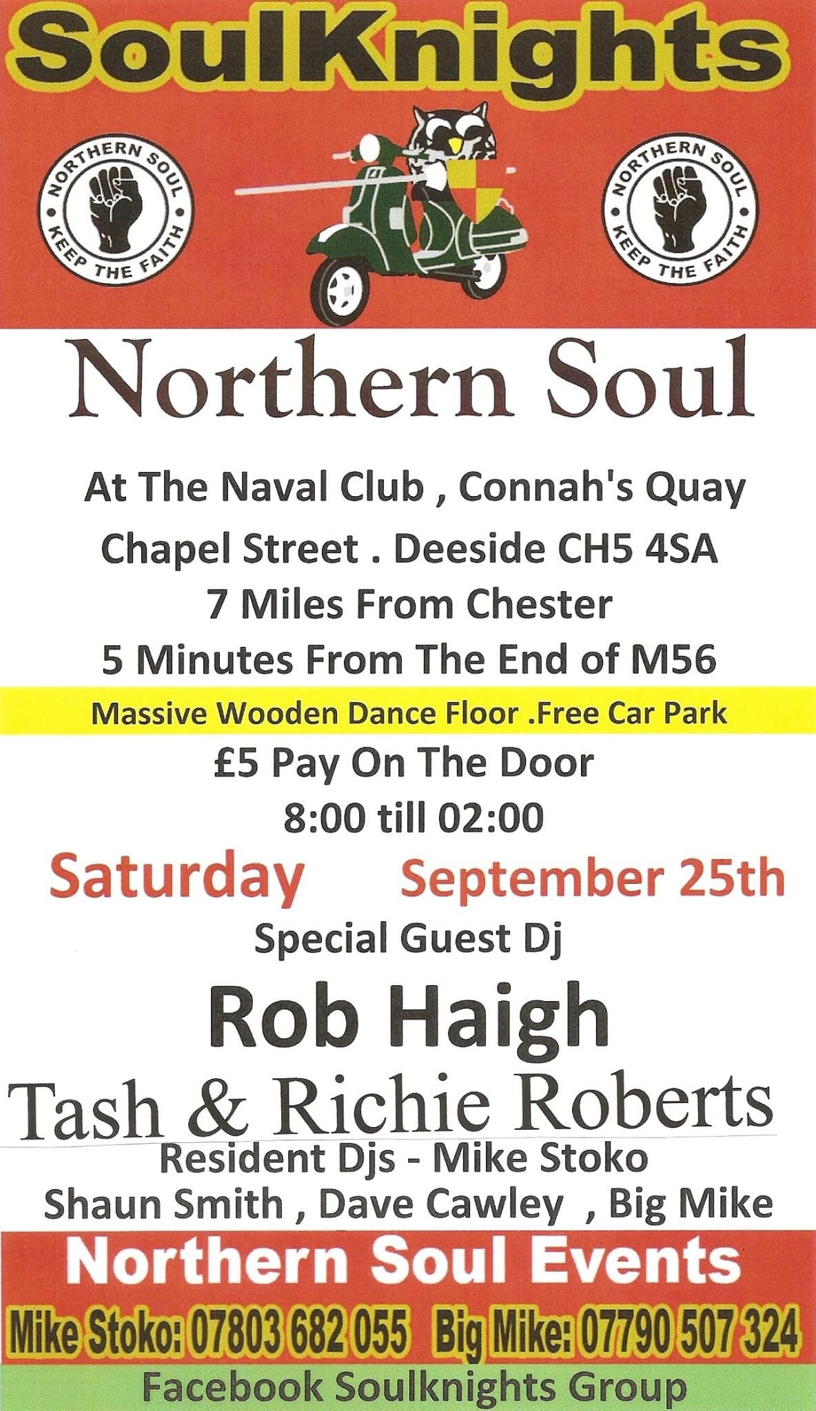 Soulknights Guests Rob Haigh Tash  Richie Roberts flyer