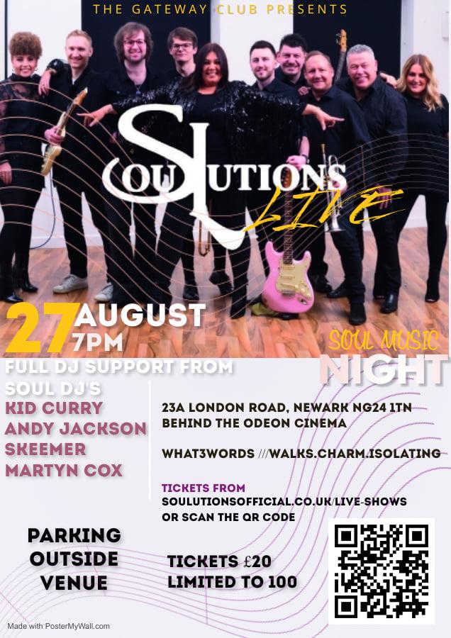 Soulutions Live  Newark flyer