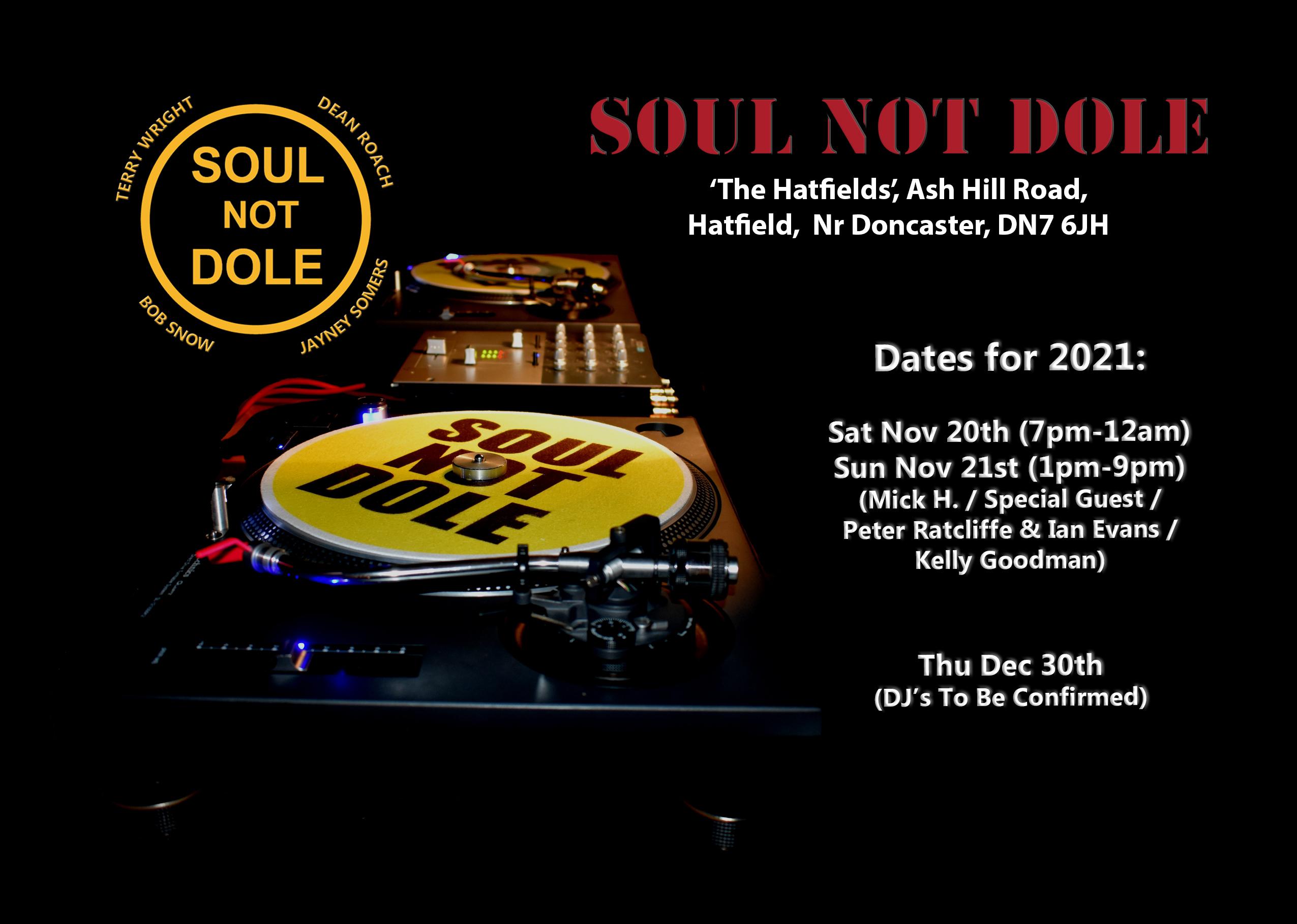 Soul Not Dole Doncaster flyer