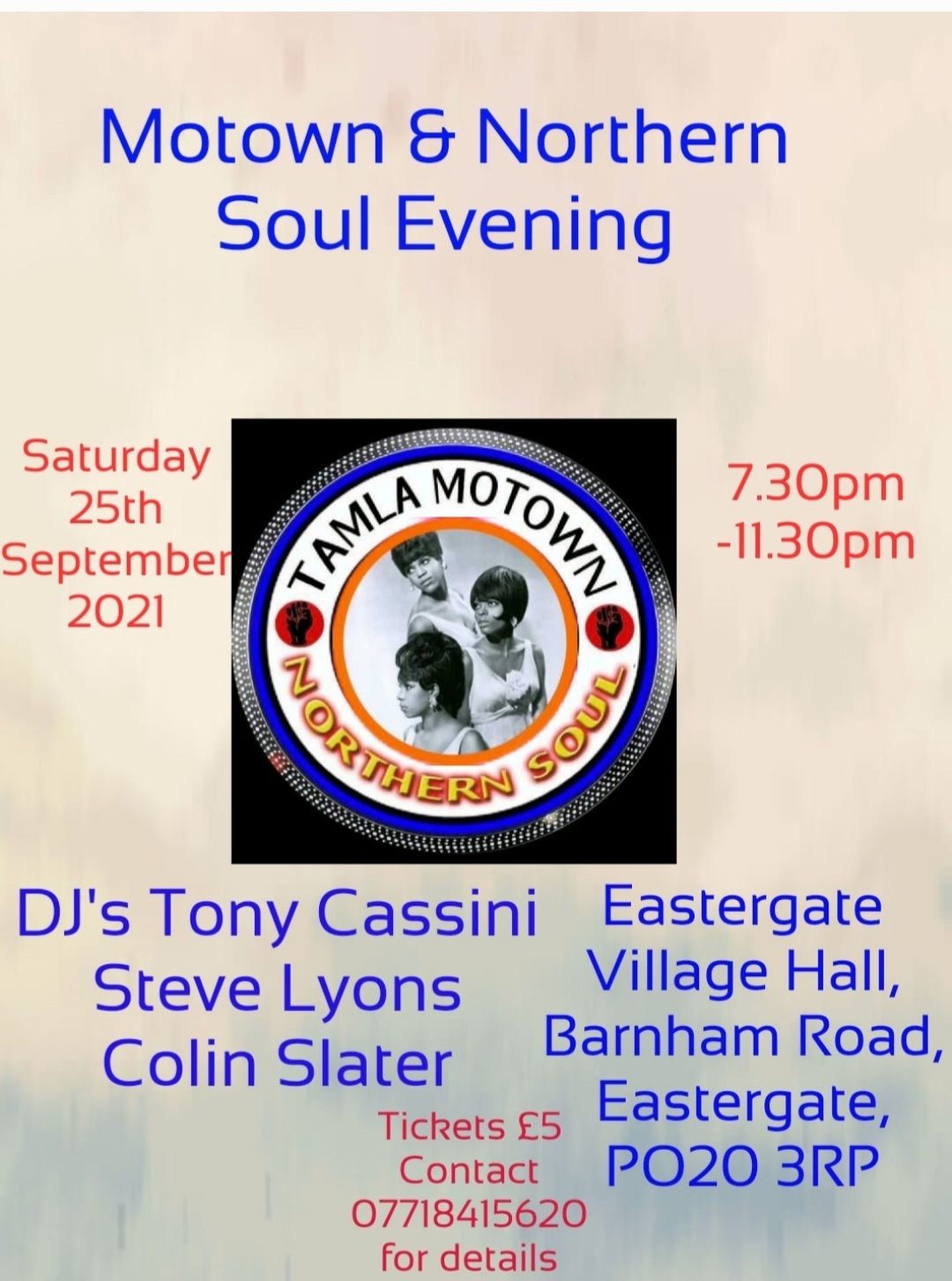 Chichester Motown And Northern Soul Night flyer