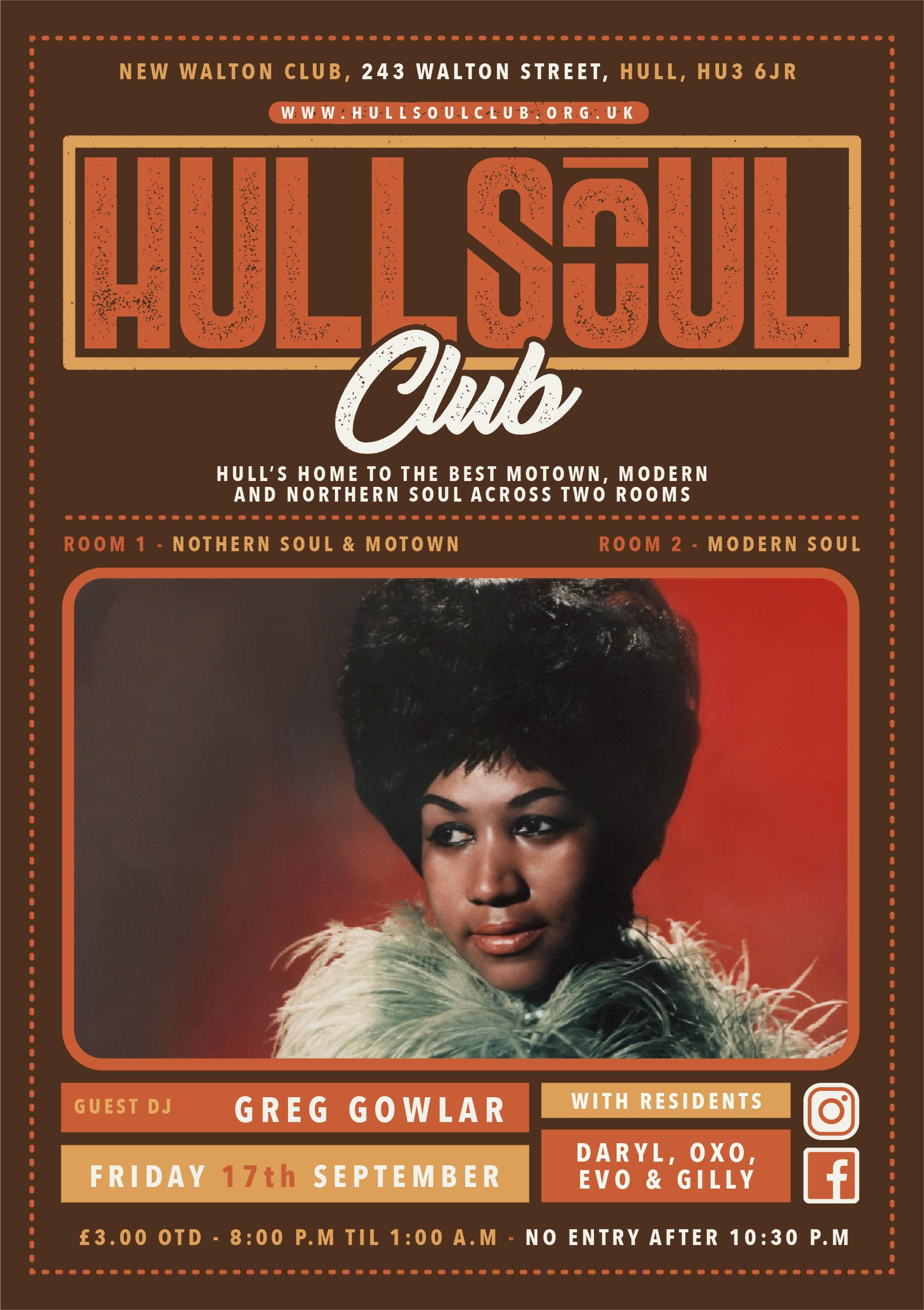 Hull Soul Club flyer