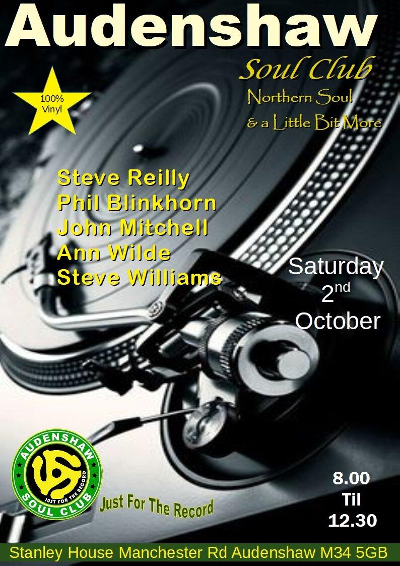 Audenshaw Soul Club flyer