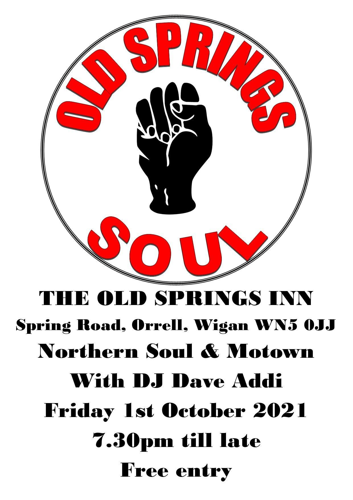 Old Springs Soul Night flyer