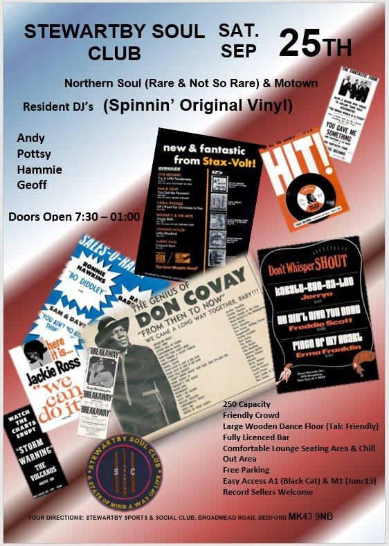 Stewartby Soul Night Nr Bedford  Stewartby Beds flyer