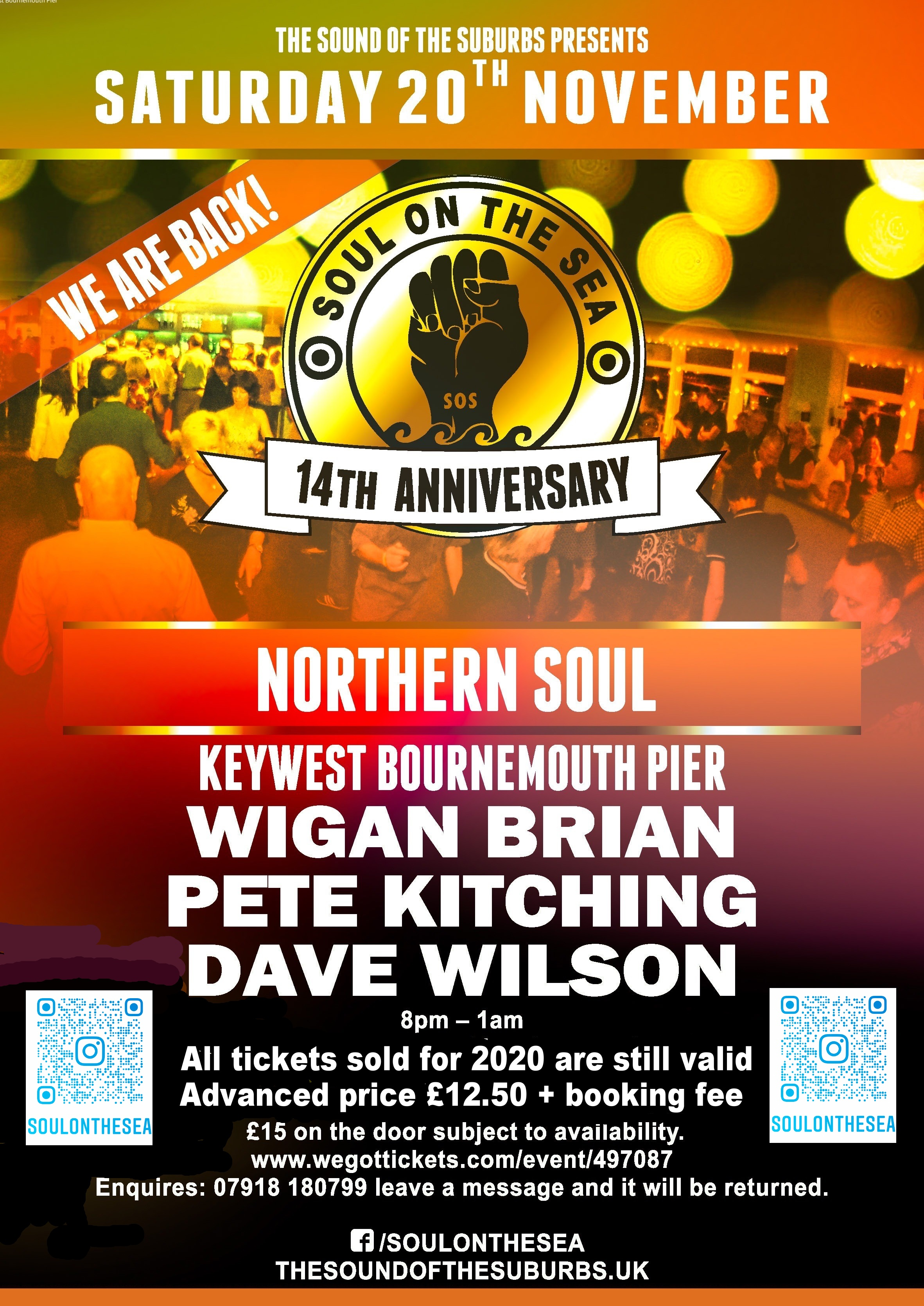 Soul On The Sea 14th Anniversary flyer