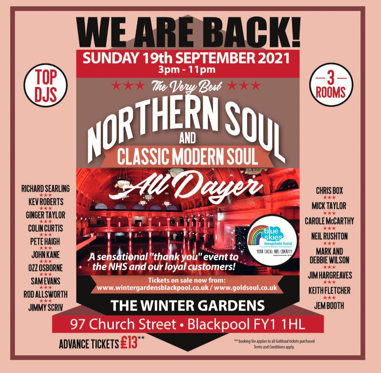 Blackpool Winter Gardens All Dayer flyer