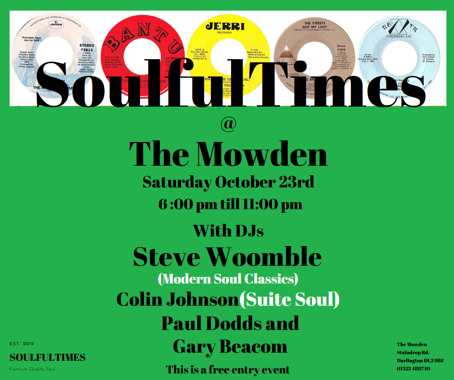 Soulfultimes At The Mowden flyer