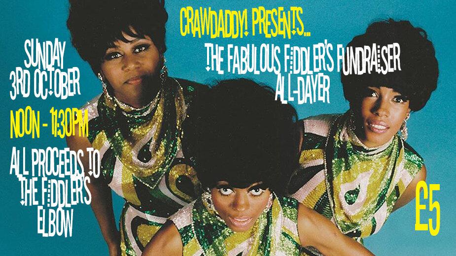 Crawdaddy Presents The Fabulous Fiddlers Fundraiser flyer