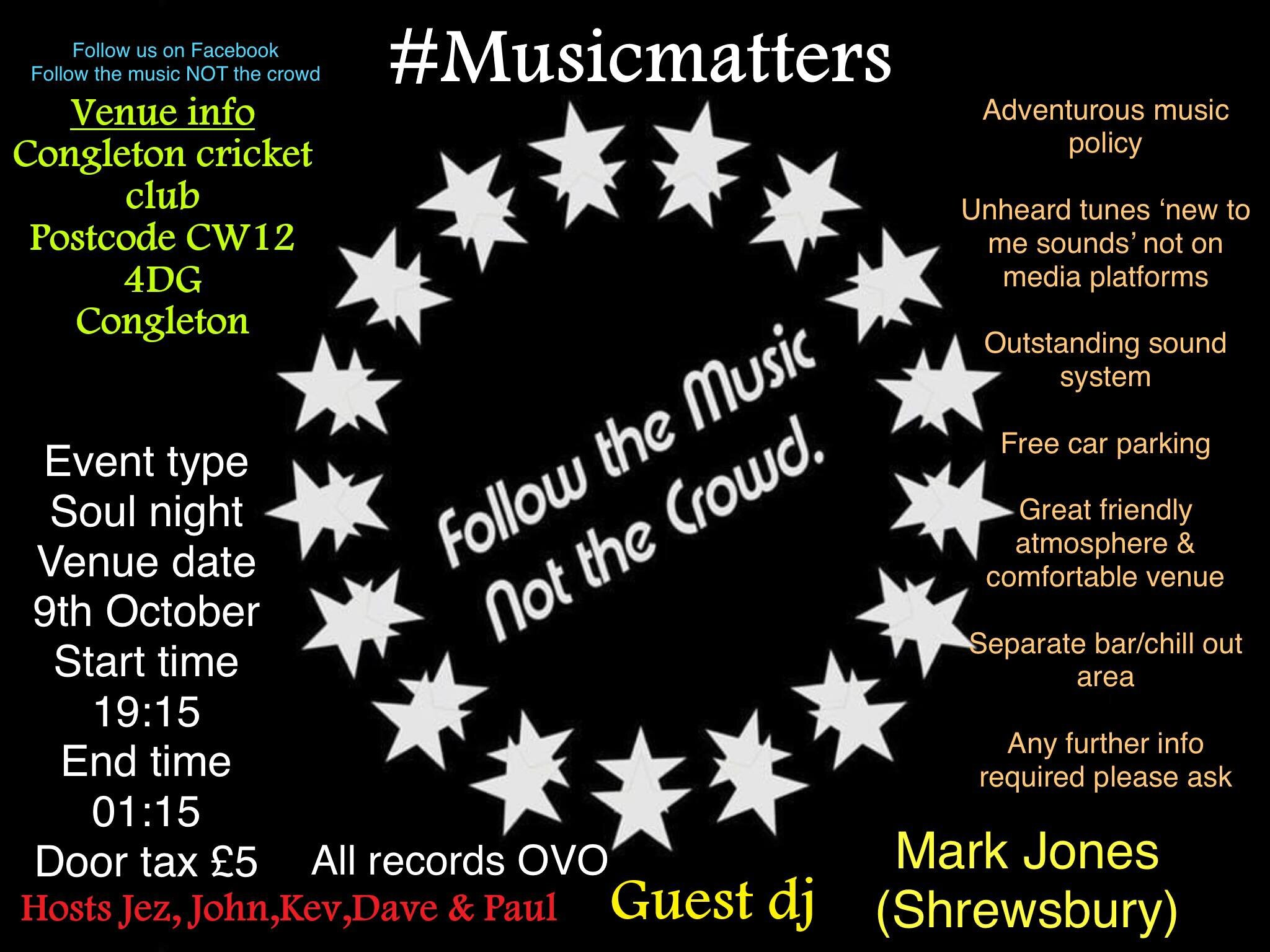 Follow The Music Not The Crowd flyer