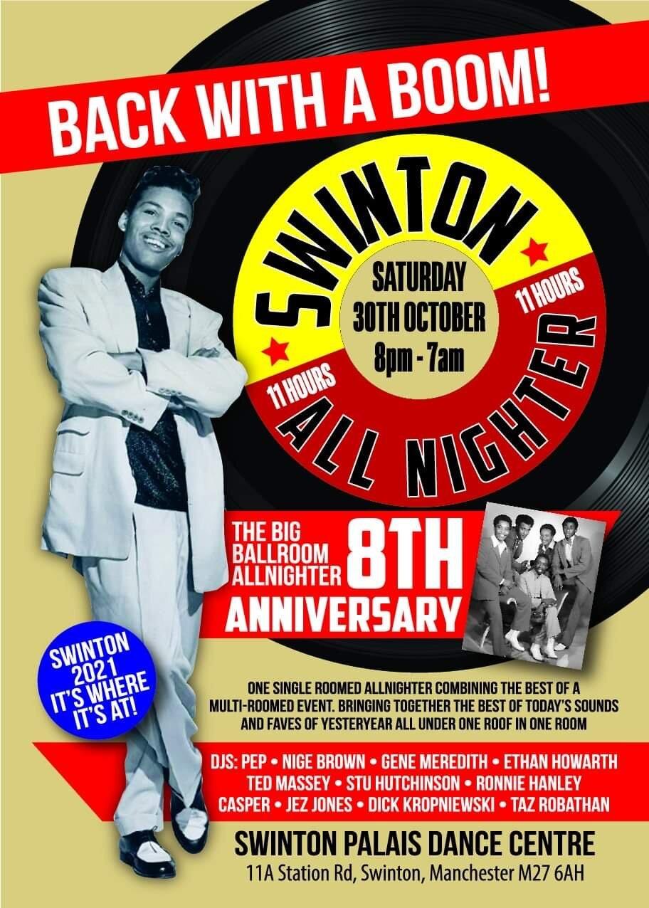 Swinton Grand Ballroom 8 Th Anniversary Nighter  Fal flyer